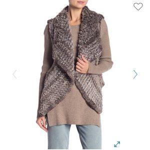 NWT Bagatelle Faux Fur Draped Vest